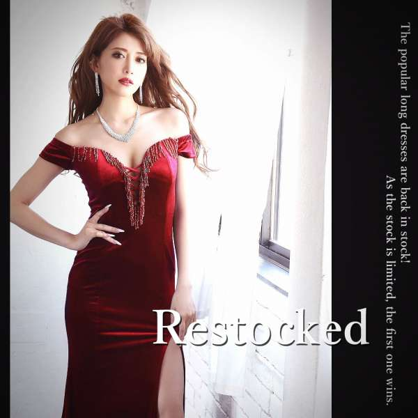 ゴージャスなロングドレス